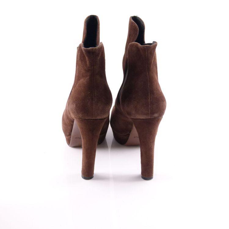 Lola Cruz High Heel Wild Leder Chelsea Stiefel Schuhe Gr. 38 Braun (HH) – Bild 4