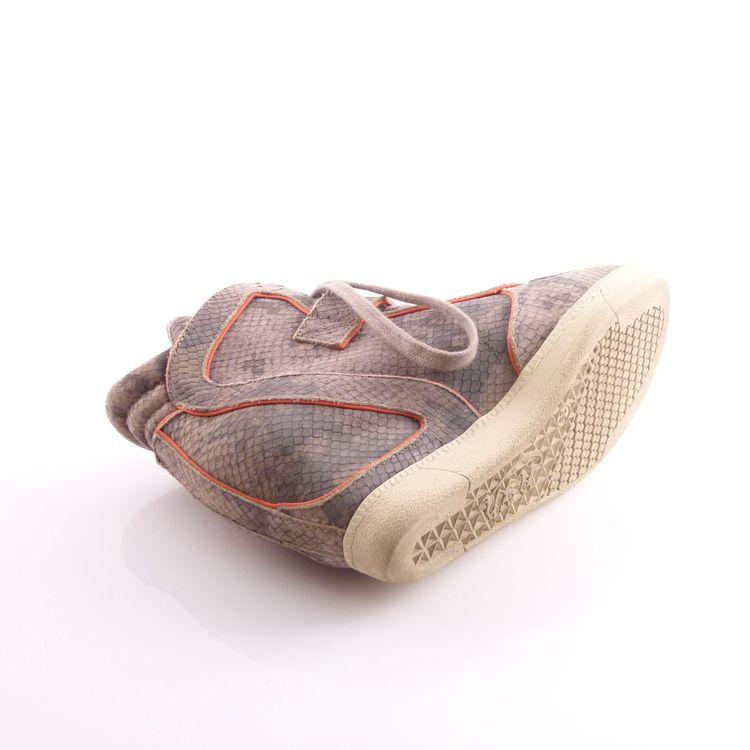 Ash Leder High Top Sneaker Wedges Schuhe Gr. 39 Grau Pink Reptiloptik (HH) – Bild 5