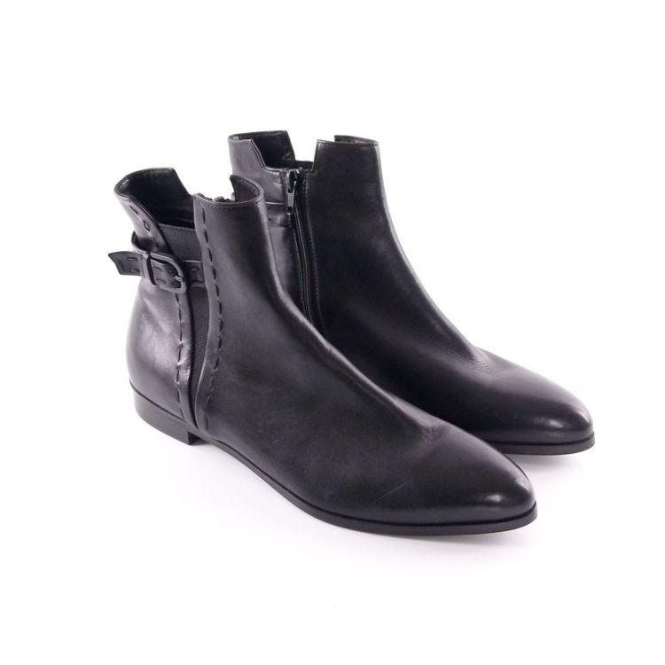 Kennel & Schmenger Leder Ankle Boots Stiefelette Schuhe Gr. 40 / 6,5 Schwarz (HH) – Bild 1