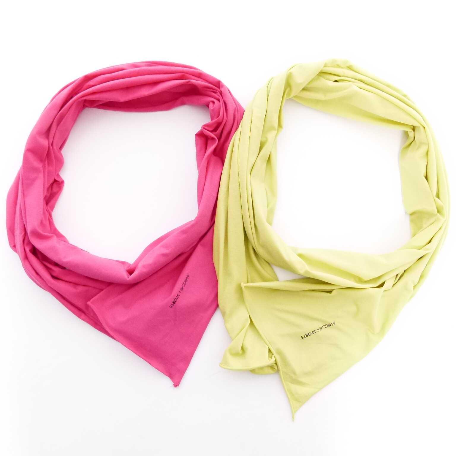 marc cain tuch 2er set gr n gelb pink hh women accessoires t cher schals. Black Bedroom Furniture Sets. Home Design Ideas