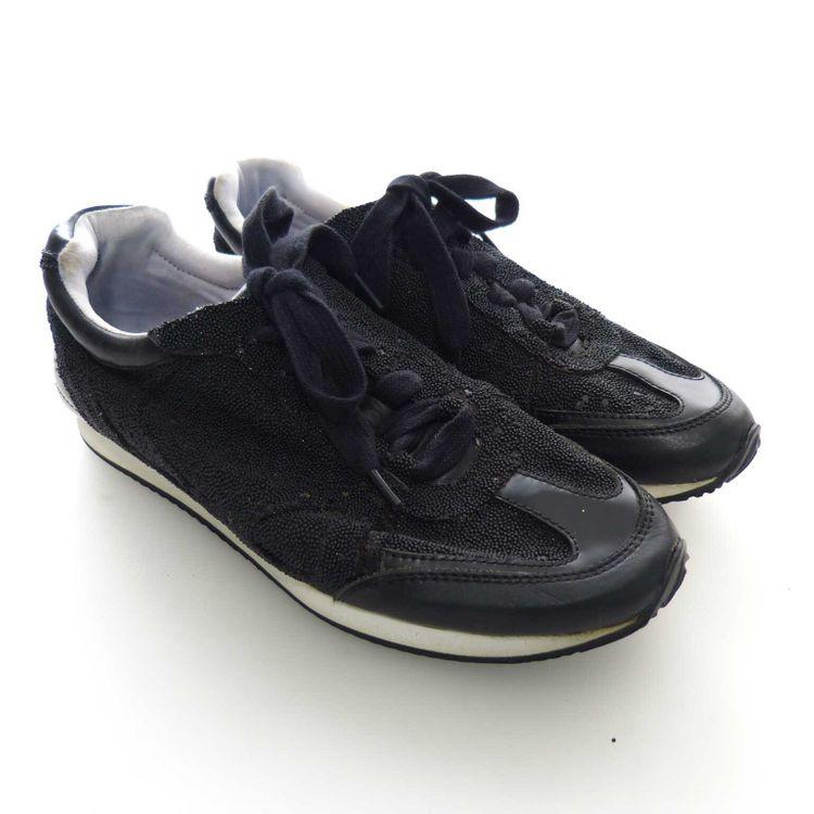 Rachel Zoe Jeni Sneaker Schnürschuhe Schuhe Gr. 38,5 dt. 7M US in Schwarz (AHB) – Bild 1