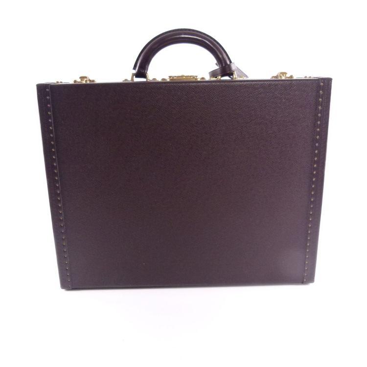 Louis Vuitton President Koffer Leder Vintage Aktentasche Braun (HH) – Bild 2