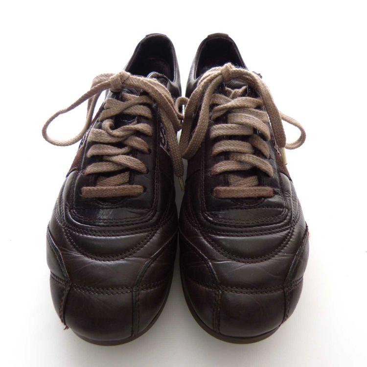 Bikkembers Leder Schnür Sneaker Schuhe Gr. 36 in Braun (AHB) – Bild 3