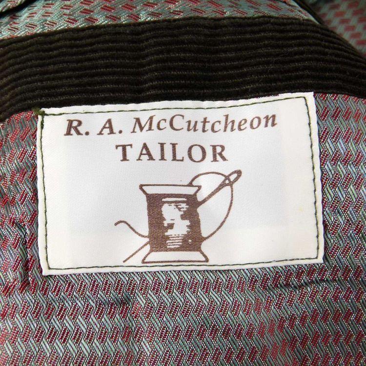 McCutcheon Cord Sakko Gr. L/XL in Grün Braun Zweiknopf (AHB) – Bild 3