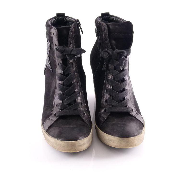 Kennel & Schmenger High Top Wedges Sneaker Schuhe 40 / 6,5 Schwarz Strass (HH) – Bild 3