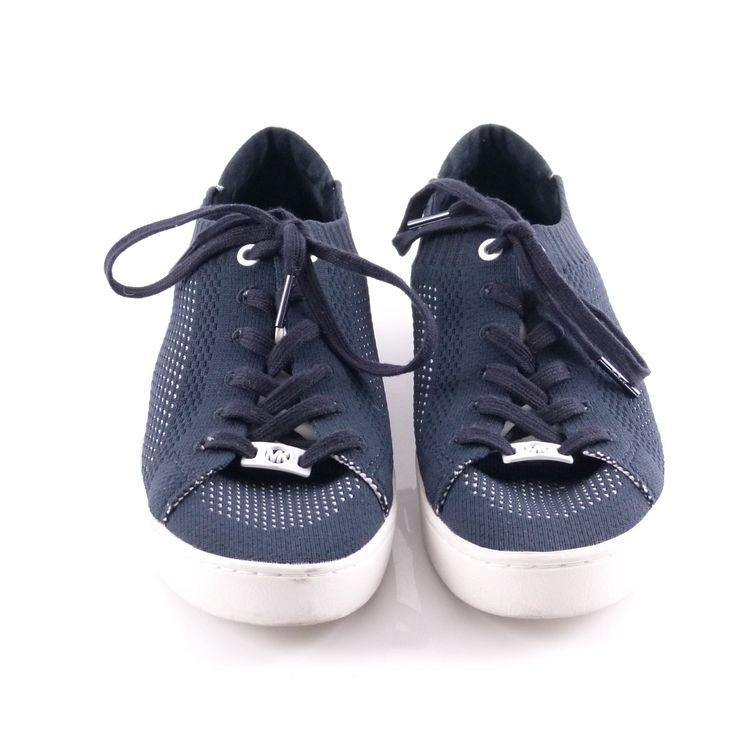 Michael Kors Sneaker Schuhe Gr. 40 / 9 Blau Weiß Mesh Optik (HH) – Bild 3