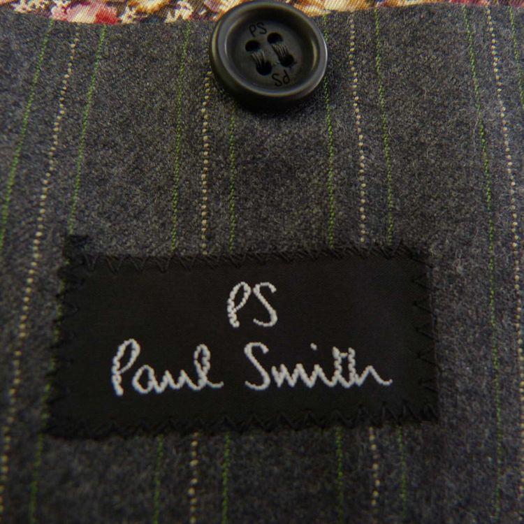 Paul Smith Anzug Gr. 44 UK / 54 DT  in Grau Grün Nadelstreifen Neu (AHB) – Bild 4