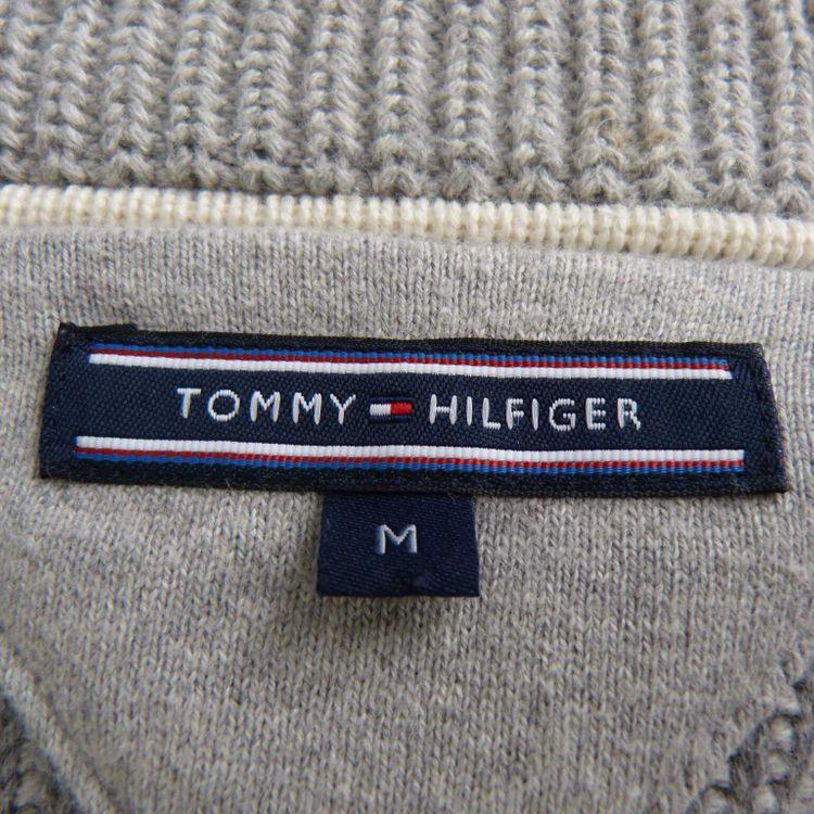 Tommy Hilfiger Strickjacke Gr. M in Grau Weiß (AHB) – Bild 3
