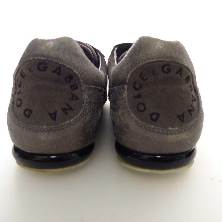 Dolce & Gabbana D&G Leder Schnür Sneaker Schuhe Gr. 42 EU / 8 UK in Grau (AHB) – Bild 4