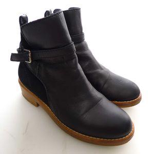 Acne Leder Chelsea Boots Stiefeletten Gr. 37 in Schwarz (AHB)