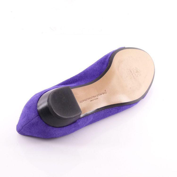Konstantin Starke Wild Leder Peeptoe Ballerinas Schuhe Gr 39,5 Lila Wie Neu (HH) – Bild 5