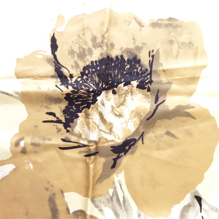 Valentino Tuch Schal in Beige Braun Florales Design & NEU (AHB) – Bild 2
