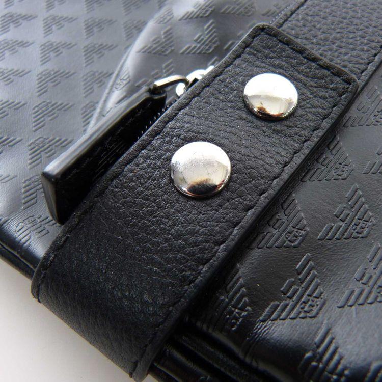 Emporio Armani Kleiderschutzhülle Kleidersack in Schwarz mit Monogram (AHB) – Bild 4