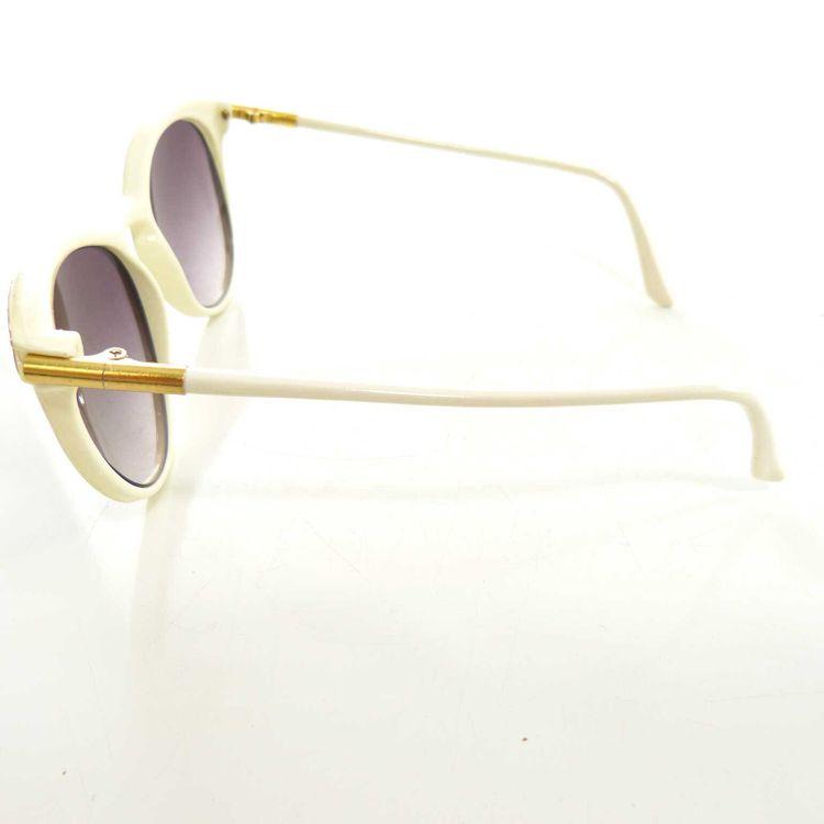 Designer Sonnenbrille Brille in Creme Weiß Gold (MUC) – Bild 3