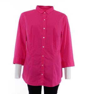 0039 Italy Allegra Crop Bluse Gr. XXL in Pink Fuchsia NEU (AHB)