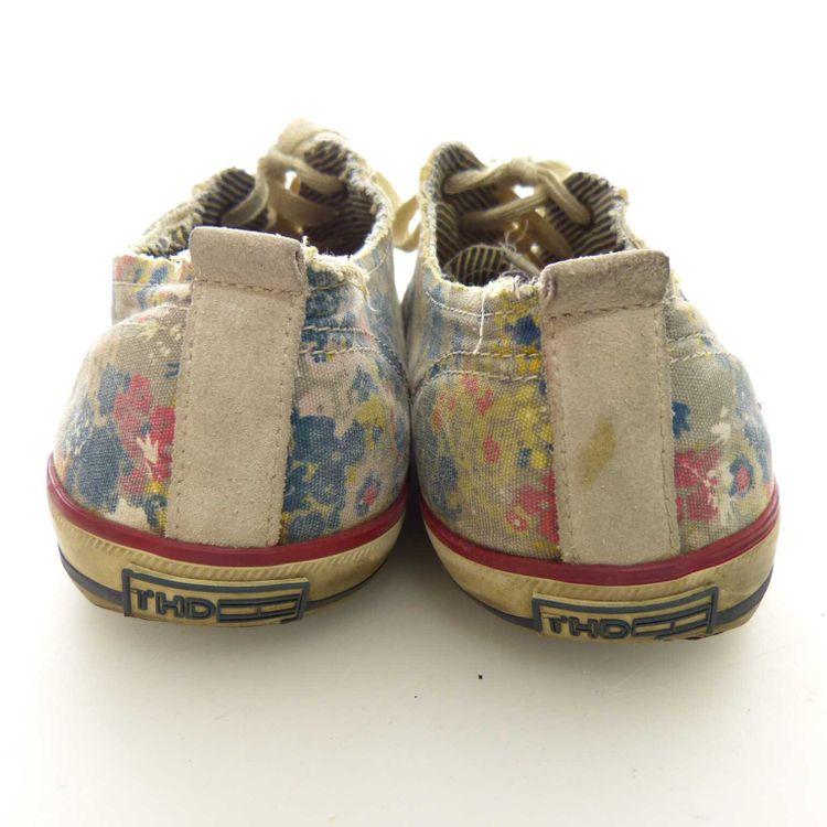 Hilfiger Denim Sneaker Schnür Schuhe Gr. 40 in Beigegrau Grau (AHB) – Bild 4