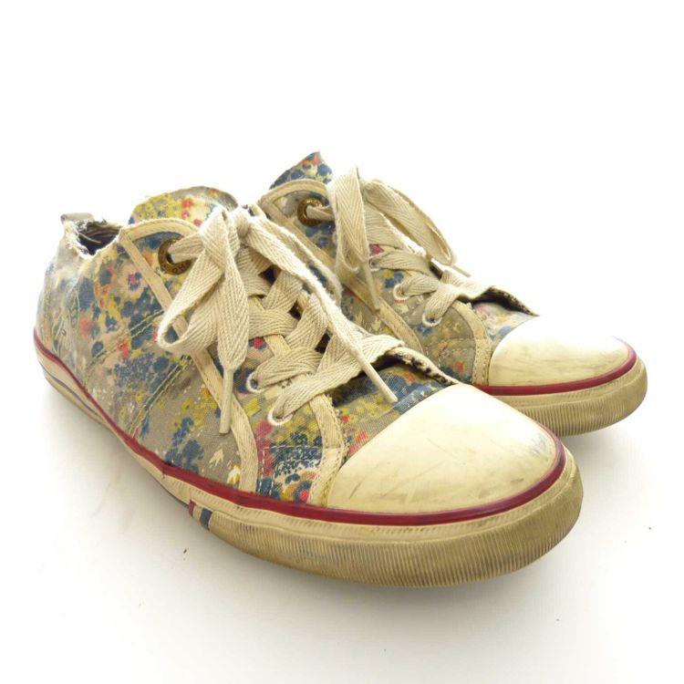 Hilfiger Denim Sneaker Schnür Schuhe Gr. 40 in Beigegrau Grau (AHB) – Bild 1