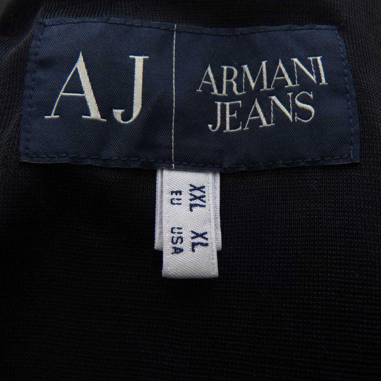 Armani Jeans Jersey Jacket Sakko Gr. XL in Schwarz (AHB) – Bild 3