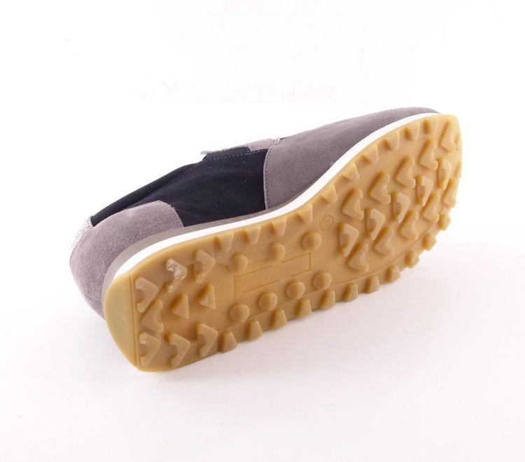 Peserico Slip On Sneaker Schuhe Gr. 38 Blau Grau Silber Neu Leder Glitzer (HH) – Bild 7