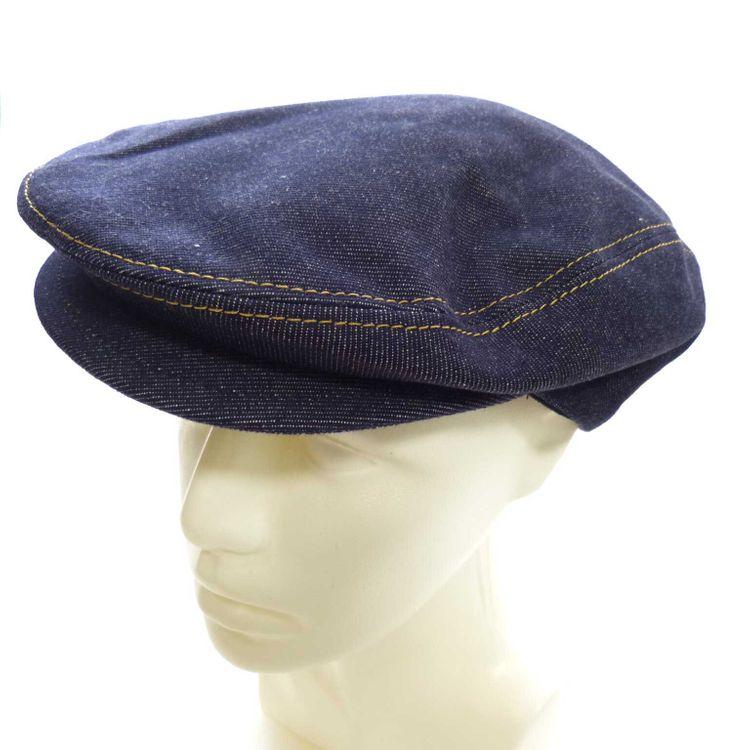 Dolce & Gabbana Coppola Schiebermütze Mütze Gr. 57 in Denim Blau WIE NEU (MUC) – Bild 1