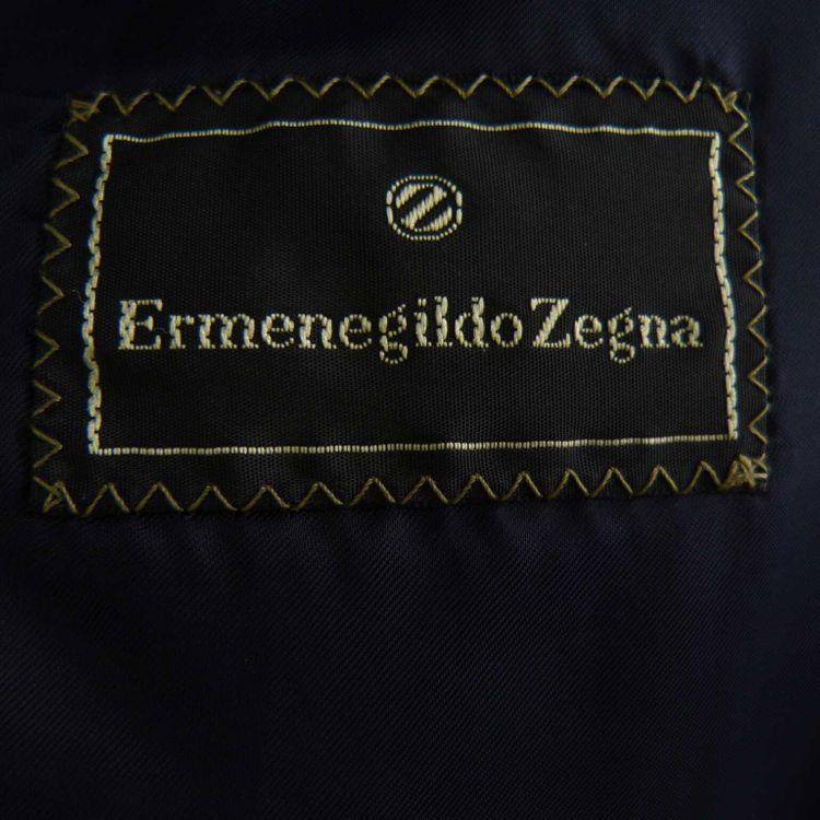 Ermenegildo Zegna Four Ply Sakko Gr. 46 in Anthrazit Blau gemustert Wolle (HH) – Bild 3