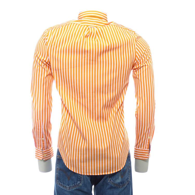Polo Ralph Lauren slim fit Hemd Gr. S in Orange Weiß gestreift (HH) – Bild 2