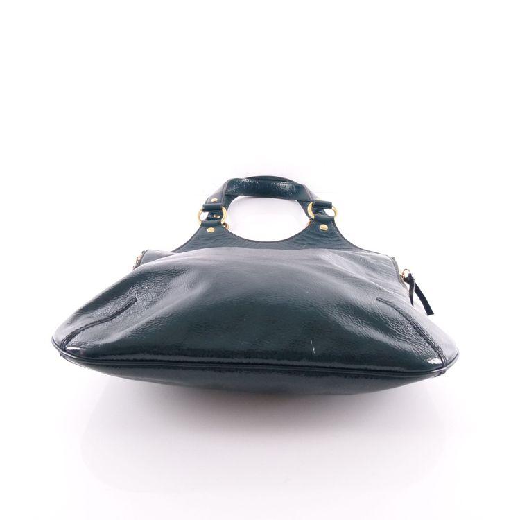Yves Saint Laurent YSL Lack Leder Schulter Tasche Grün (HH) – Bild 3