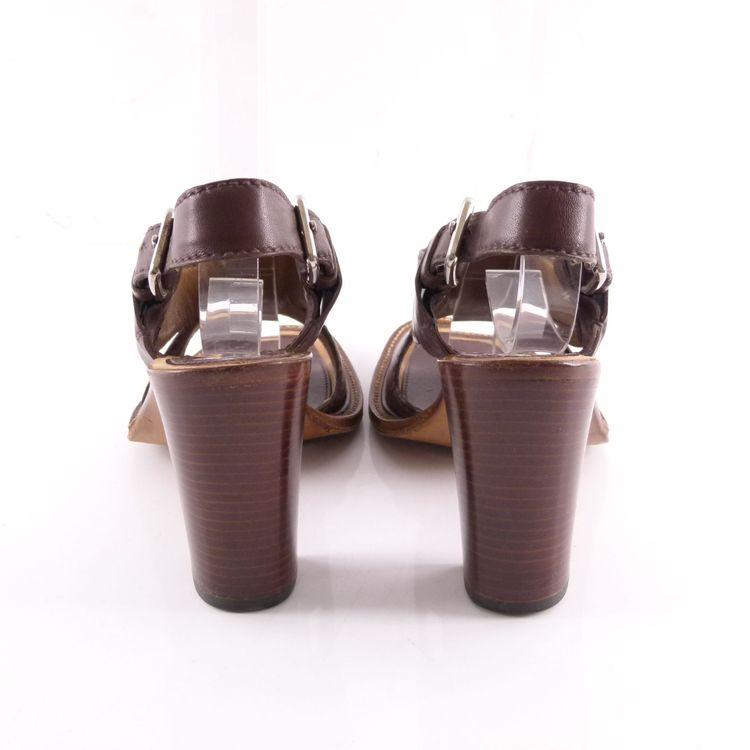 Prada Leder Sandaletten Schuhe Gr. 36 Braun (HH) – Bild 4