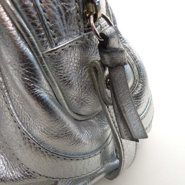 Abro+ Leder Handtasche Tasche in Silber Metallic (MUC) – Bild 4