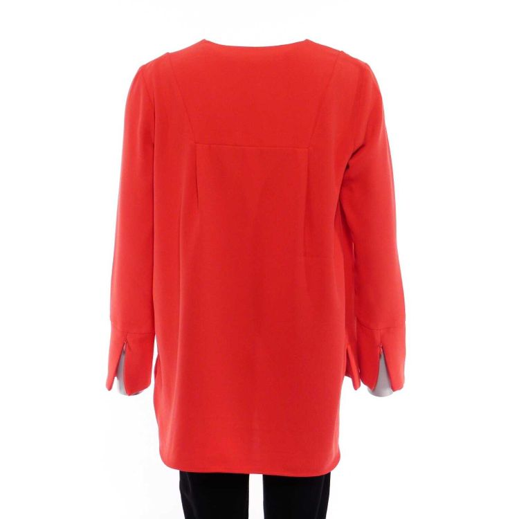 French Connection Tunika Bluse Gr. 40 in Orangenrot Rot WIE NEU (AHB) – Bild 2