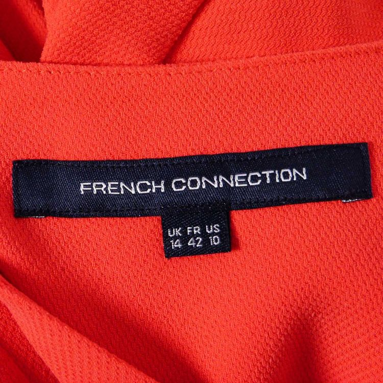 French Connection Tunika Bluse Gr. 40 in Orangenrot Rot WIE NEU (AHB) – Bild 3