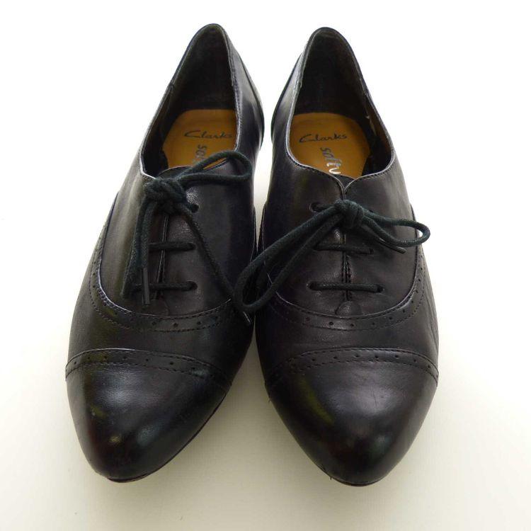 Clarks Leder Schnür Schuhe mit Absatz Gr. 37,5 dt. / 4,5 uk. in Schwarz (AHB)  – Bild 3