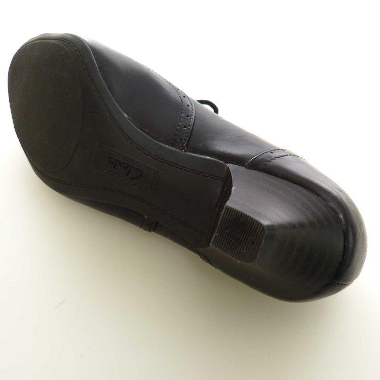 Clarks Leder Schnür Schuhe mit Absatz Gr. 37,5 dt. / 4,5 uk. in Schwarz (AHB)  – Bild 5