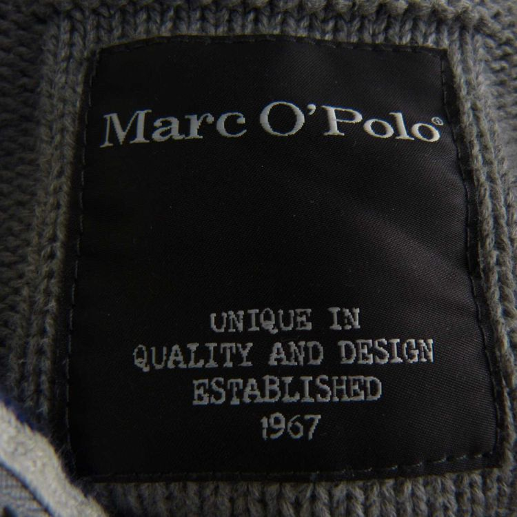 Marc O'Polo Strick Pullover Troyer Gr. M in Grau (HH) – Bild 3