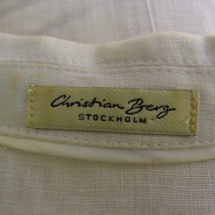 Christian Berg Blusenjacke Gr. 36 in Weiß 100% Leinen (AHB) – Bild 3