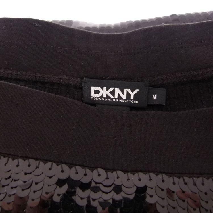 DKNY Donna Karan Pailletten Mini Rock Gr. M Schwarz (HH) – Bild 4