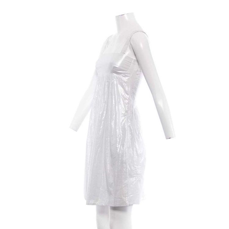 See by Chloé Kleid Gr. 34 DE / 4 US in Weiß mit Silber Schimmer (HH) – Bild 2