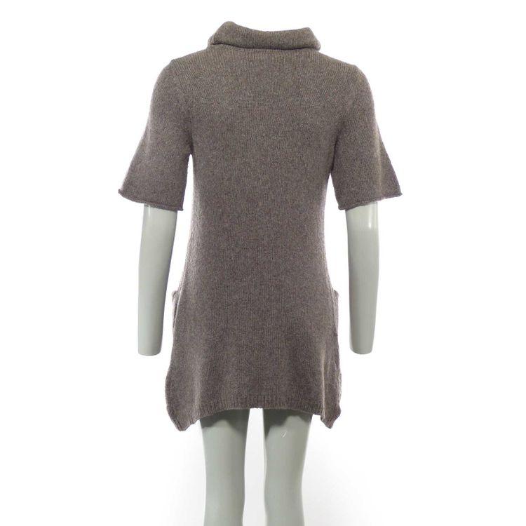 Laurèl Strickkleid Kleid Gr. 38 in Beigegrau Grau Alpaka Schurwolle Seide (AHB) – Bild 2