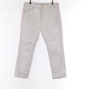 Calvin Klein 7/8 Jeans Hose W 36 in Weiß (AHB)