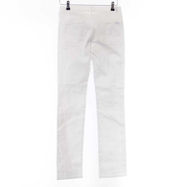 7 For All Mankind straight leg Jeans Hose W26 in Weiß (AHB) – Bild 2