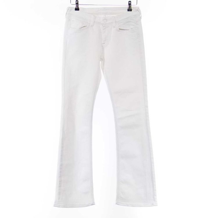 7 For All Mankind Flynt Jeans Hose W27 in Weiß (AHB) – Bild 1