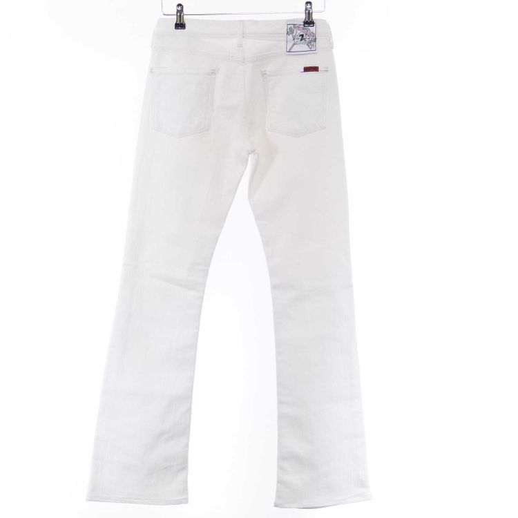 7 For All Mankind Flynt Jeans Hose W27 in Weiß (AHB) – Bild 2