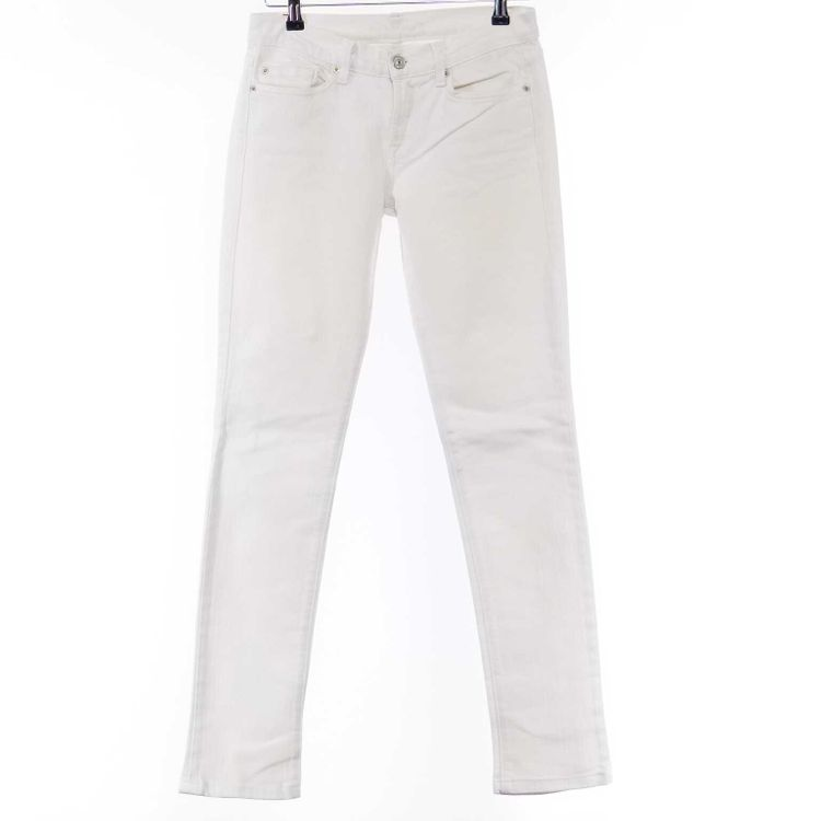 7 For All Mankind Roxy Jeans Hose W26 in Weiß (AHB) – Bild 1