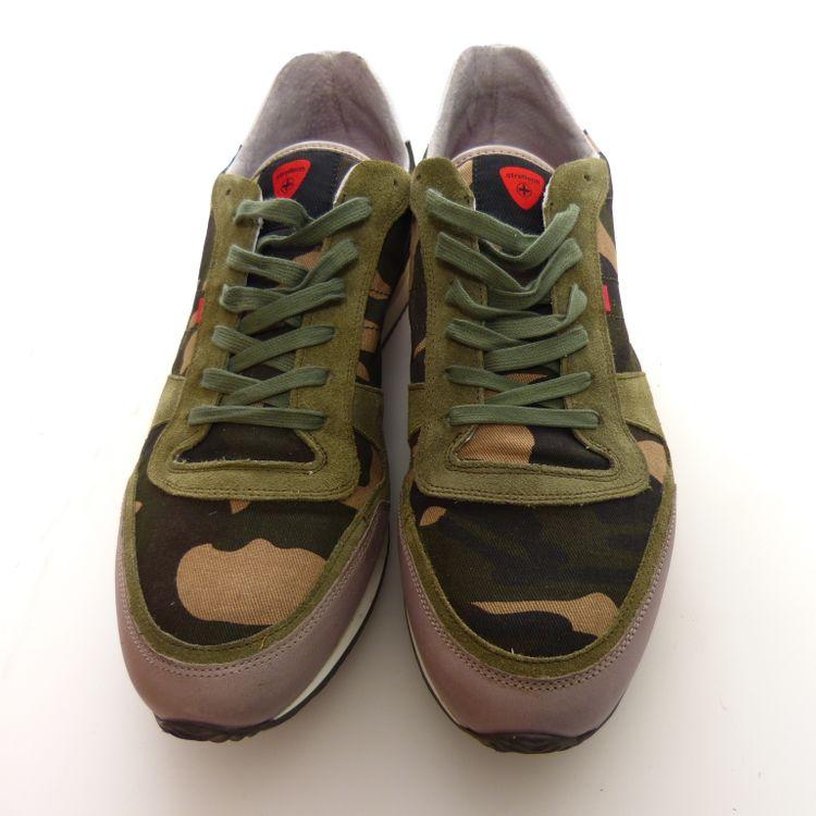 Strellson Sportswear Shayne Lace Camo Schuhe Gr. 44 in Grün Multicolor NEU (AHB) – Bild 3