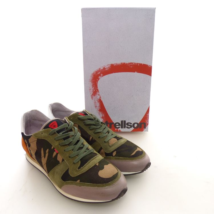 Strellson Sportswear Shayne Lace Camo Schuhe Gr. 44 in Grün Multicolor NEU (AHB) – Bild 6