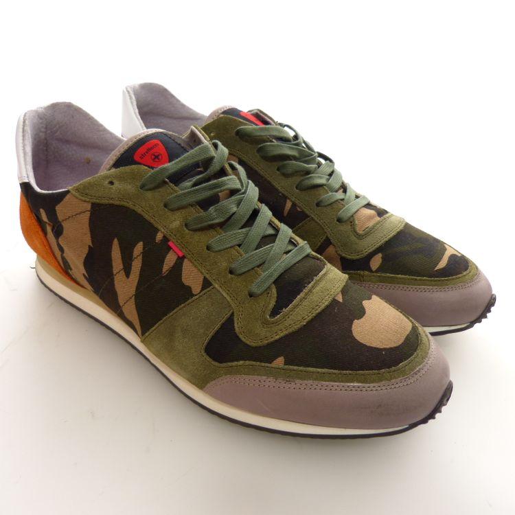 Strellson Sportswear Shayne Lace Camo Schuhe Gr. 44 in Grün Multicolor NEU (AHB) – Bild 1