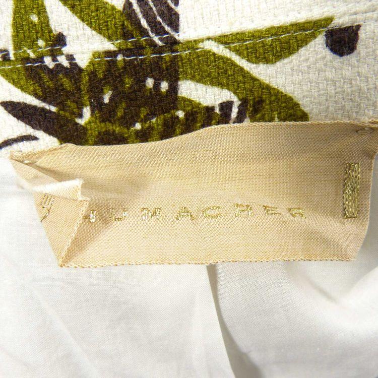 Schumacher cropped Blazer Jacke Gr. L in Weiß Grün mit Print Motiv (HH) – Bild 3