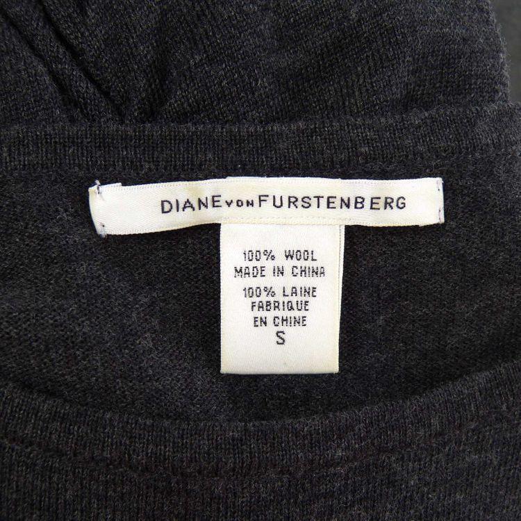 Diane von Furstenberg Langarm Strick Kleid Gr. S in Anthrazit (HH) – Bild 3