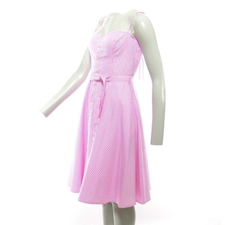 Ralph Lauren Neckholder Kleid Gr. 36 // 6 in Rosa Weiß Gestreift (HH) – Bild 2