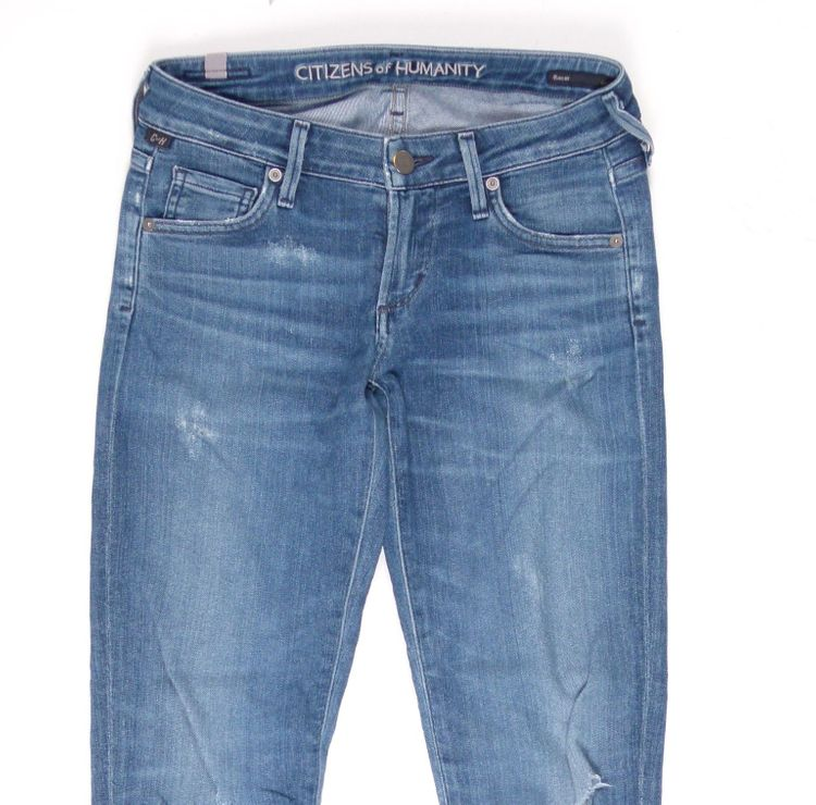 Citizens of Humanity 7/8 Jeans Hose W 25 in Blau Usedlook (HH) – Bild 2
